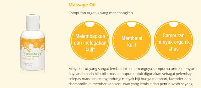 Set Shaklee Baby Massage Oil