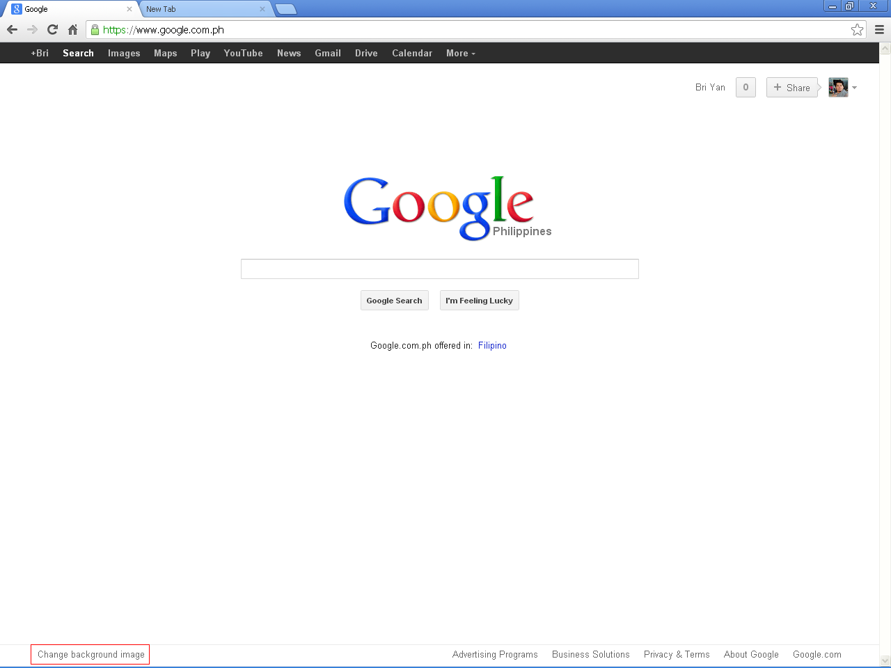 How To Change Google Browser Background Image - HowToQuick.Net - photo#37