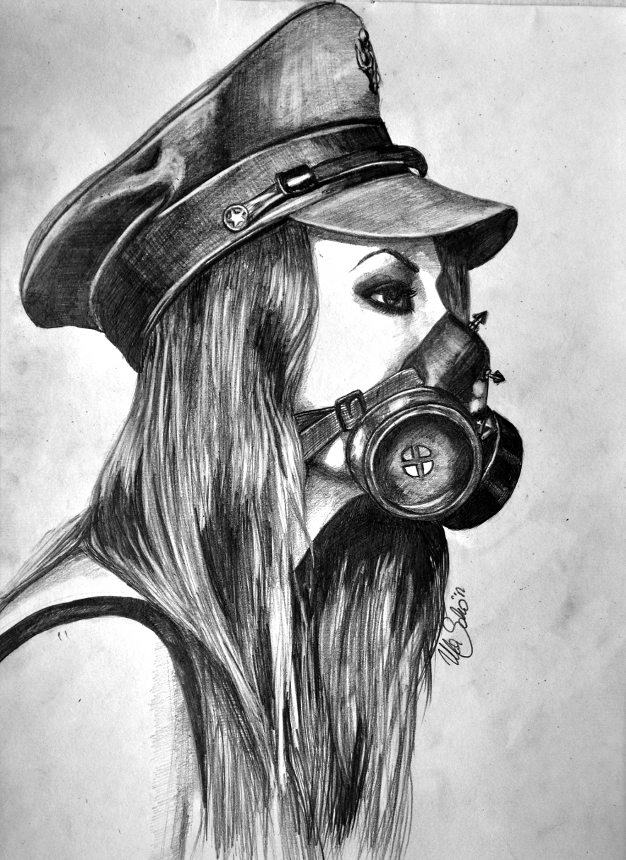 Simple Gas Mask Drawin...