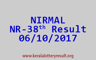 NIRMAL Lottery NR 38 Results 6-10-2017