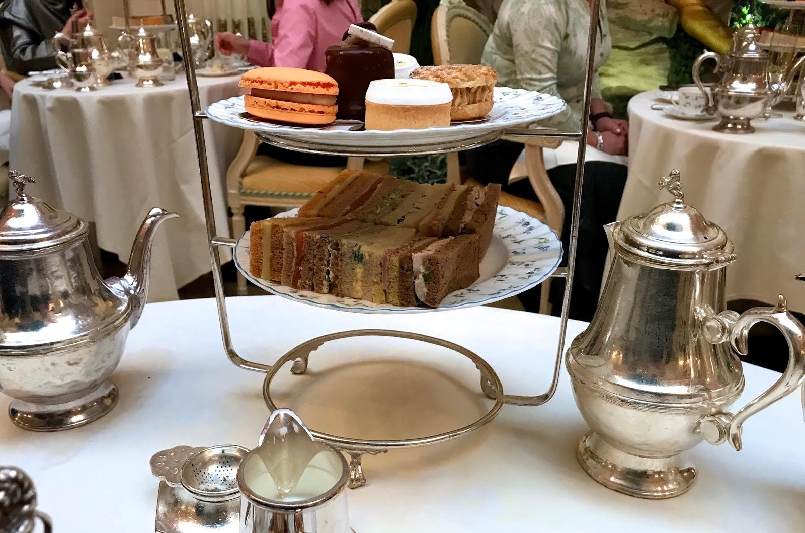 tea sandwiches, tart and macaroon
