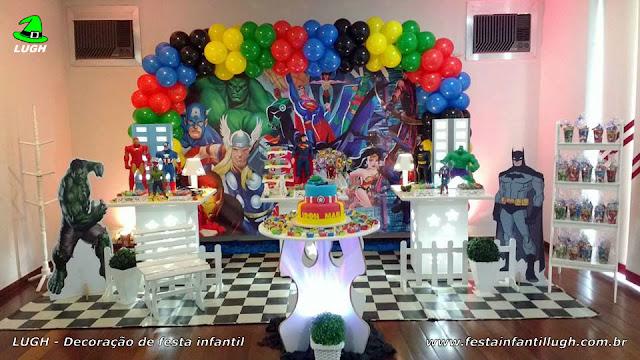 Decoração infantil festa dos Super Heróis - Decoração provençal