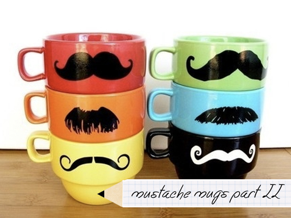 Father's Day DIY: Mustache Mug