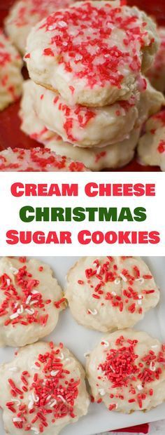 Cream Cheese Christmas Sugar Cookies #Cream #Cheese #Christmas #Sugar #Cookies #Dessert #Bestcookies
