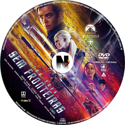 Label DVD Star Trek Sem Fronteiras
