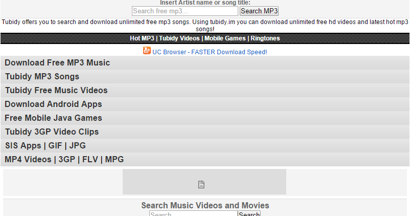 Fly on Music: Tubidy Free MP3 Search and Download