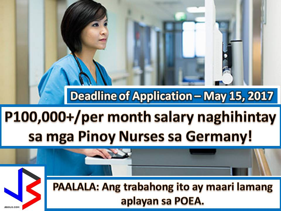 In his 2013 State of the Union Address, Former President Obama hailed a Filipino nurse as a role model.  Filipino nurses offered a tender loving care, the reason why they are still in demand in many different countries in the world such as Saudi Arabia, United Kingdom, Canada, Japan and many other.  Now, the Germany is in need of many Filipino nurses too under a government-to-government arrangement with the Philippines.