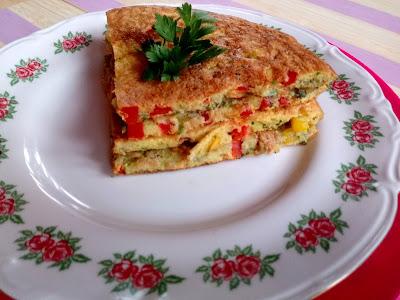 Omlet z kaszką