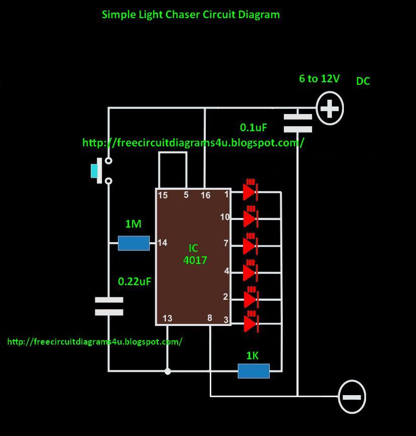 christmas lights wiring diagram repair christmas lights wiring scheme free circuit diagrams 4u: led light chaser circuit diagram #6