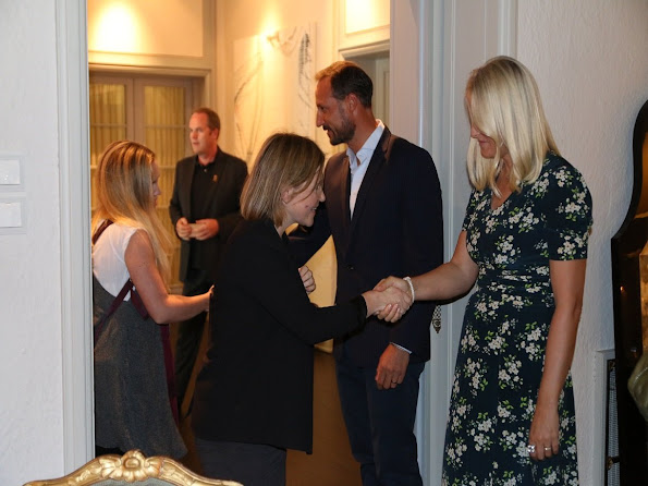 Crown Princess Mette Marit and Crown Prince Haakon held a lunch for representatives of Music Industry at Skaugum Palace in Oslo