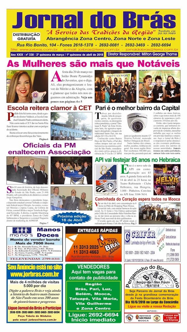 Destaques da Ed. 338 - Jornal do Brás