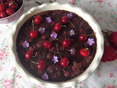 clafoutis de chocolate
