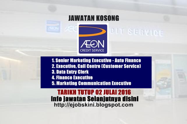 Jawatan Kosong AEON Credit Service (M) Bhd