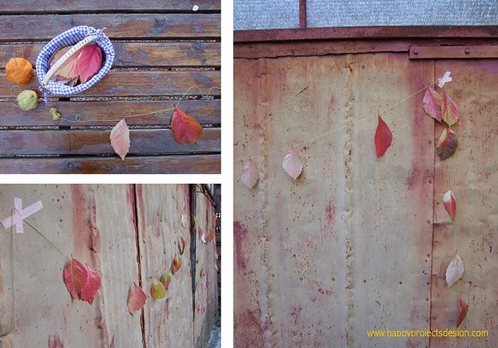 Juegos de Otoño: guirnalda de hojas
