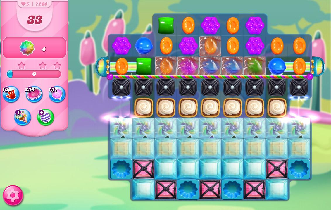 Candy Crush Saga level 7206