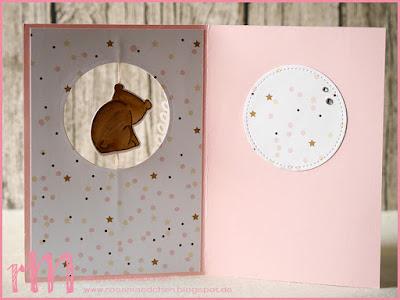 Stampin' Up! rosa Mädchen Kulmbach: Karte zum 1. Geburtstag mit Tierische Glückwünsche