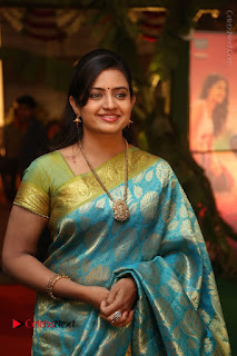 Actress Indraja Stills in Blue Silk Saree at Shatamanam Bhavathi Audio Launch  0015.JPG