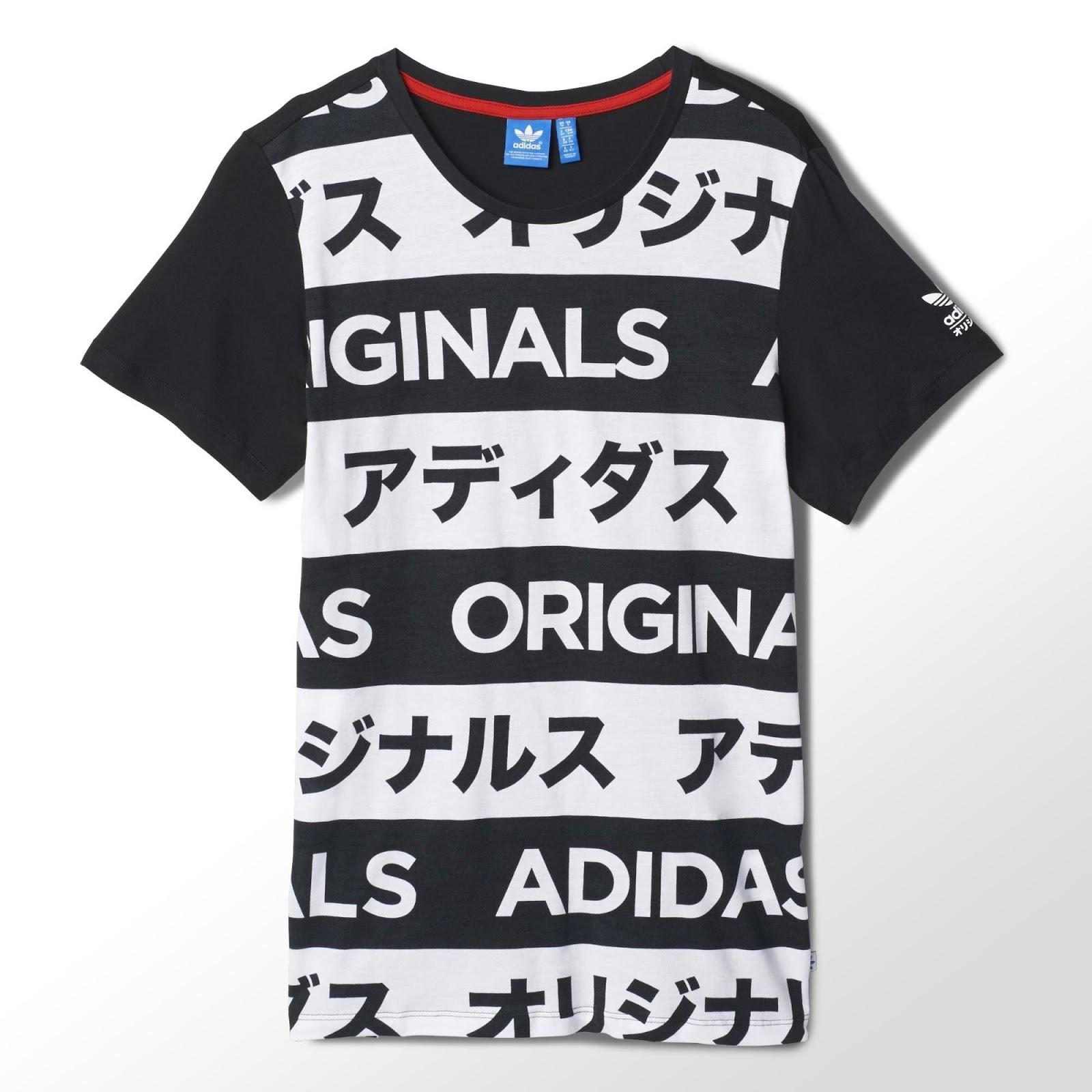 adidas Originals Women's AOP Typo Print Boyfriend Fit