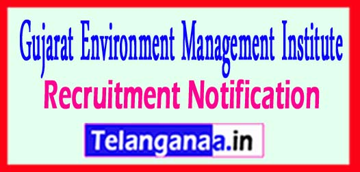 GEMI Gujarat Environment Management Institute Recruitment Notification 2017