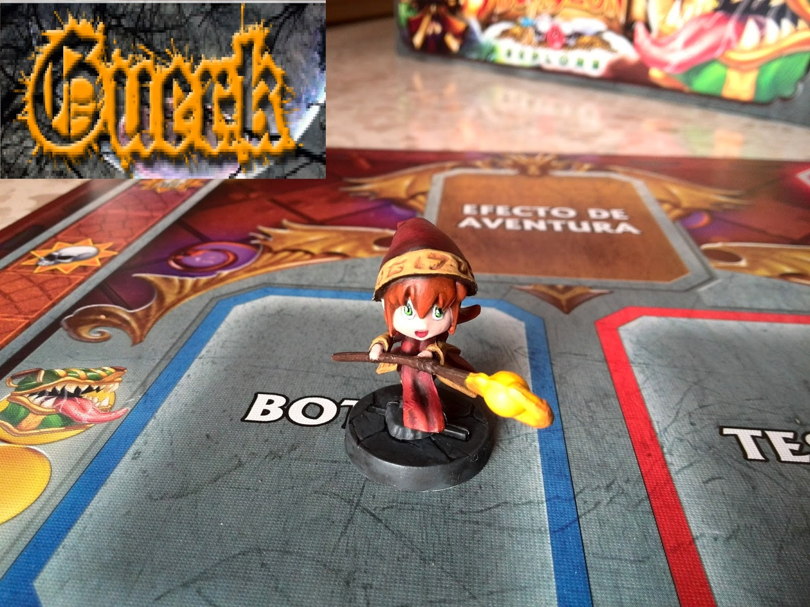 Maga de Fuego / Mage of fire de Super Dungeon Explore (pintado / painted)