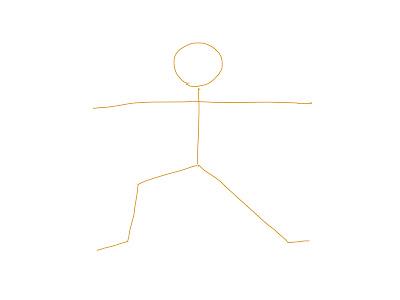 アイコン 「ヨガ」 (作: 塚原 美樹) ~ 大きく伸ばした腕を描きます
