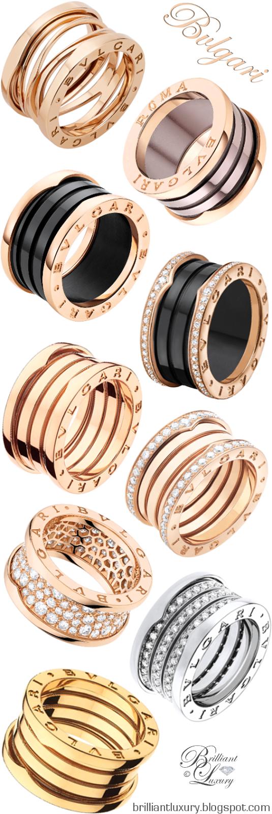 Brilliant Luxury ♦ Bvlgari B.Zero1 Rings UDATED