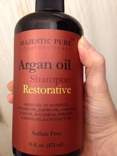 bottle of Majestic Pure Argan Oil Shampoo