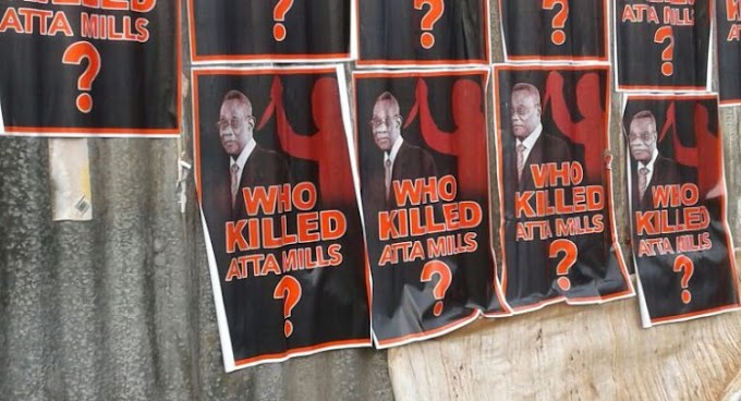 Who Killed Atta Mills Posters Pop-Up At NDC Campaign Launch