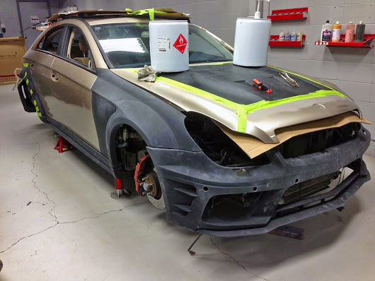 Mercedes CLS 55 AMG Widebody Transformation Update