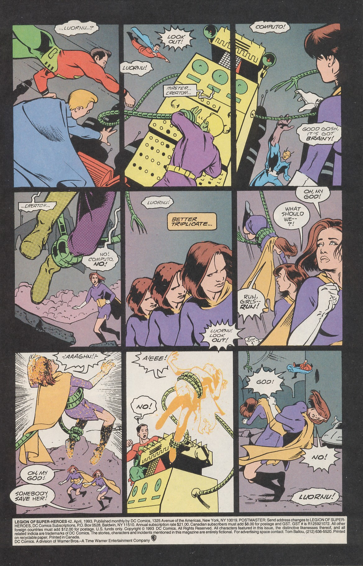 Legion of Super-Heroes (1989) 42 Page 2