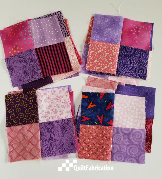 Fast Fun Fabulous 4-Patch blocks at QuiltFabrication