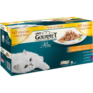 £2.69 / kg Purina Gourmet Perle Wet Cat Food Mini Fillets in Gravy, 60 x 85 g, Amazon