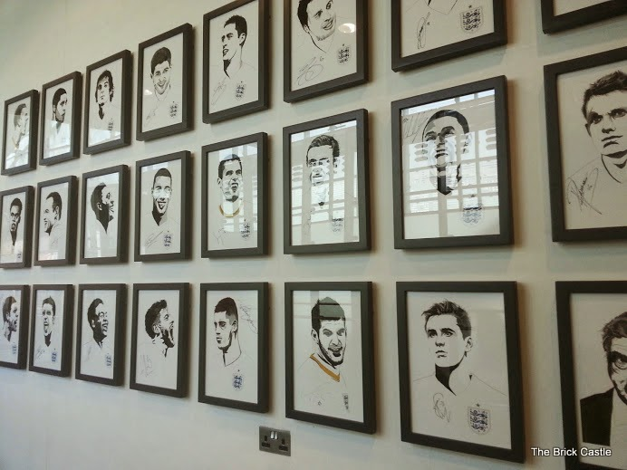 The National Football Museum at Urbis, Manchester wall of fame footballer portraits