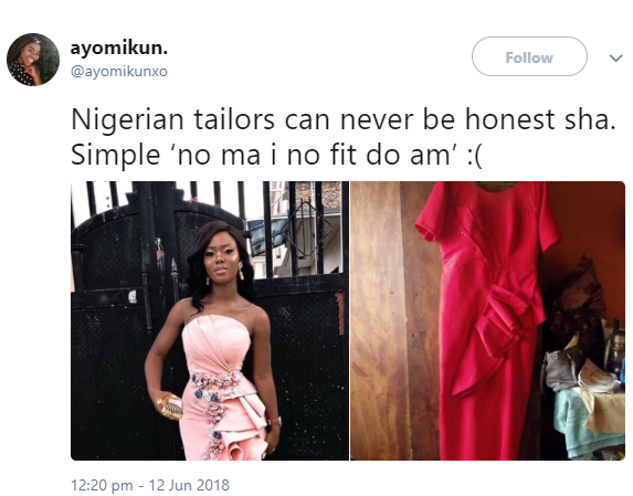 See what a lady asked her tailor to make for her VS what she got