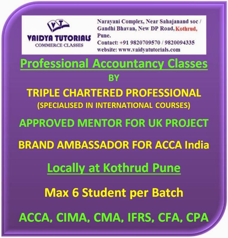 ACCA CIMA IFRS Professional Accountancy Classes