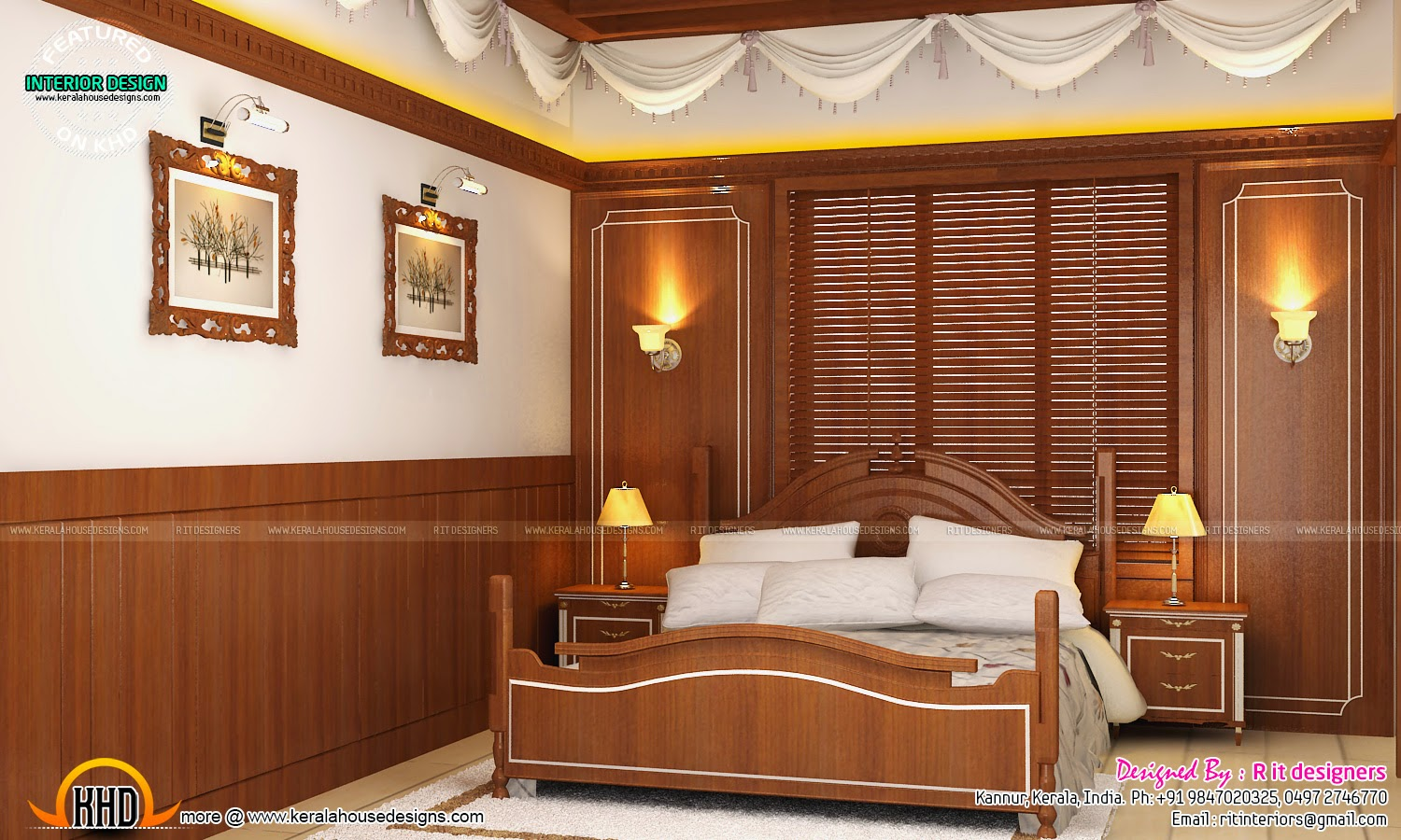 Master bedroom designs - Kerala home design and floor plans