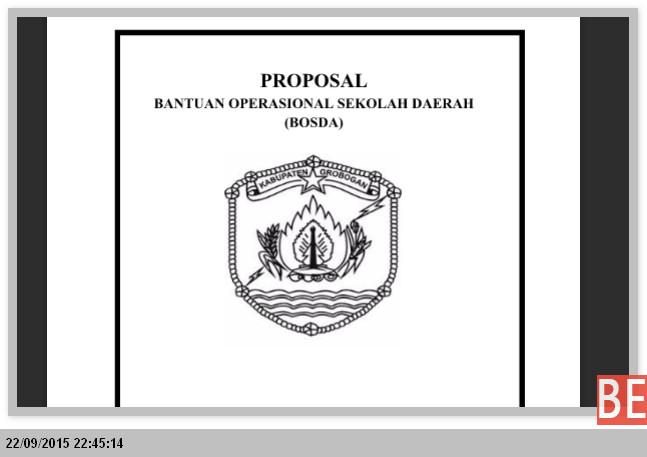 Bentuk Format Proposal BOS Daerah Edit Langsung Print