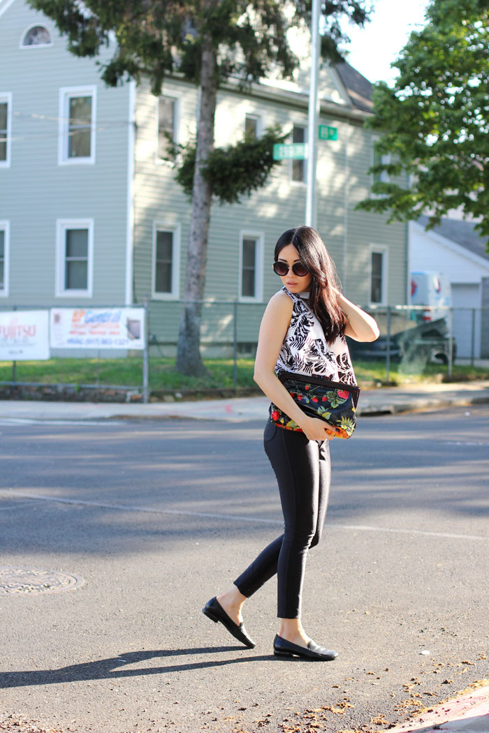 Outfit post with swing top