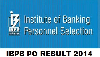 IBPS PO Result 2014 declared - CWE Probationary Officer 4 Exam Marks list