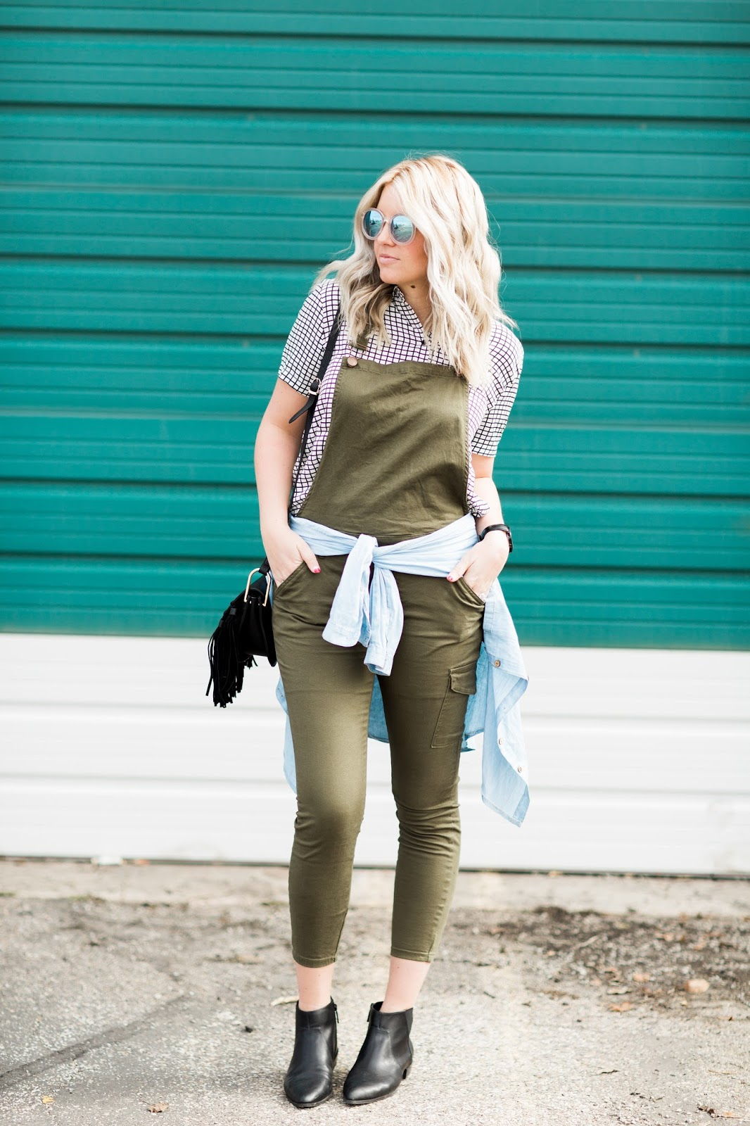Olive Overalls, Modest Outfit, Spring Outfit