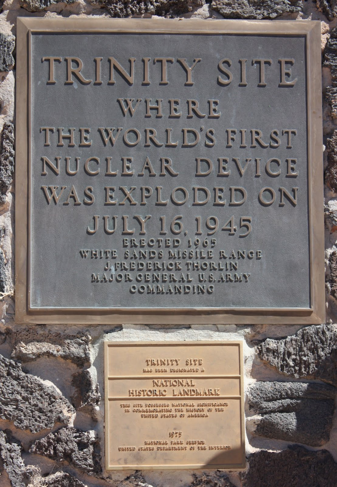 Image result for trinity site plaques