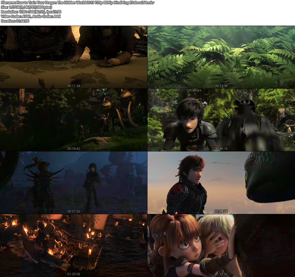 How to Train Your Dragon The Hidden World 2019 720p BDRip Hindi ESubs   480p 300MB   100MB HEVC Screenshot