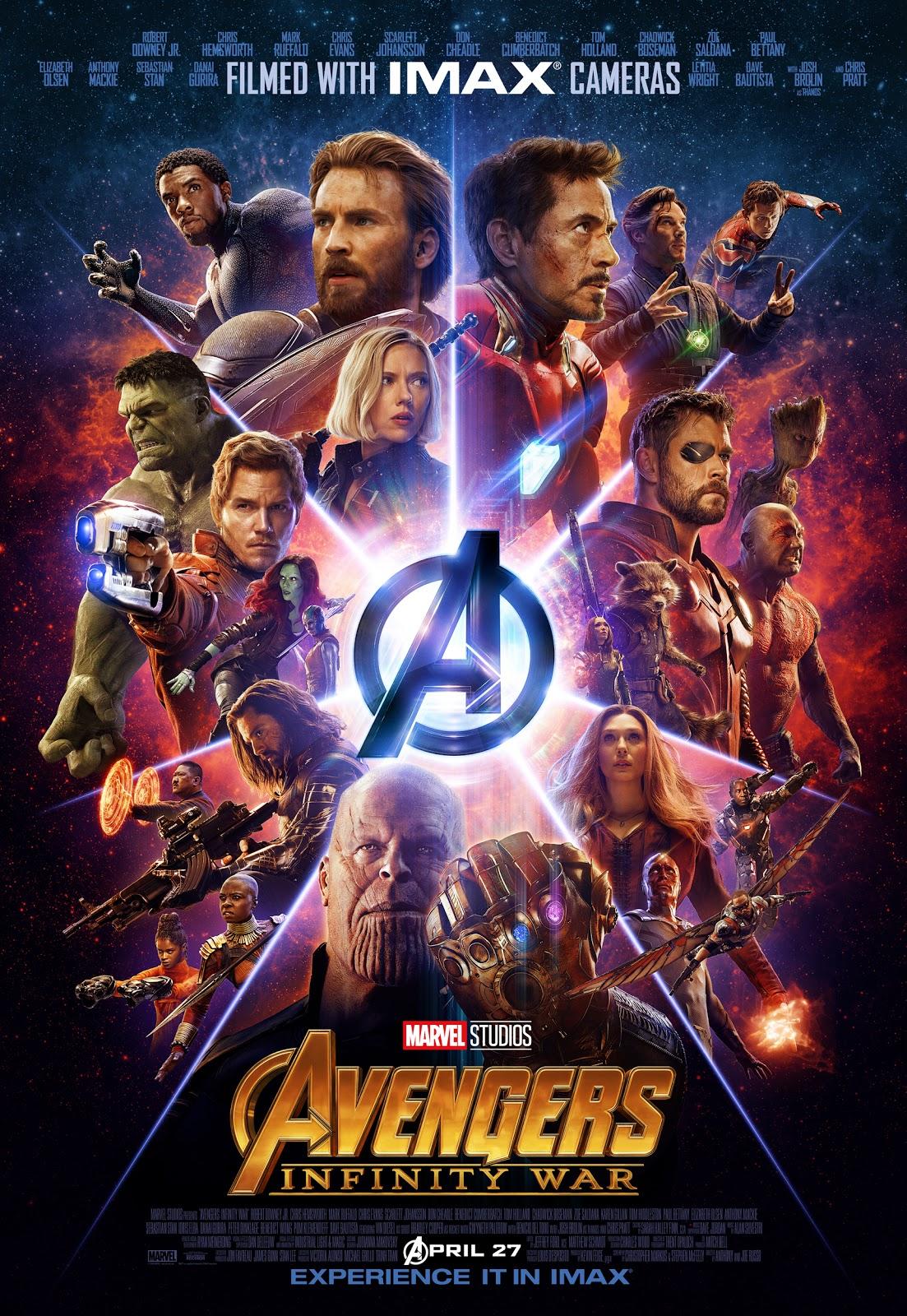Marvel Avengers Infinity War IMAX poster
