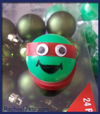 Sneak Peak at the TMNT Christmas baubles