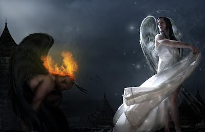 ملاك,شيطان,حب,شرير,خبيث,فتاة,بريئة