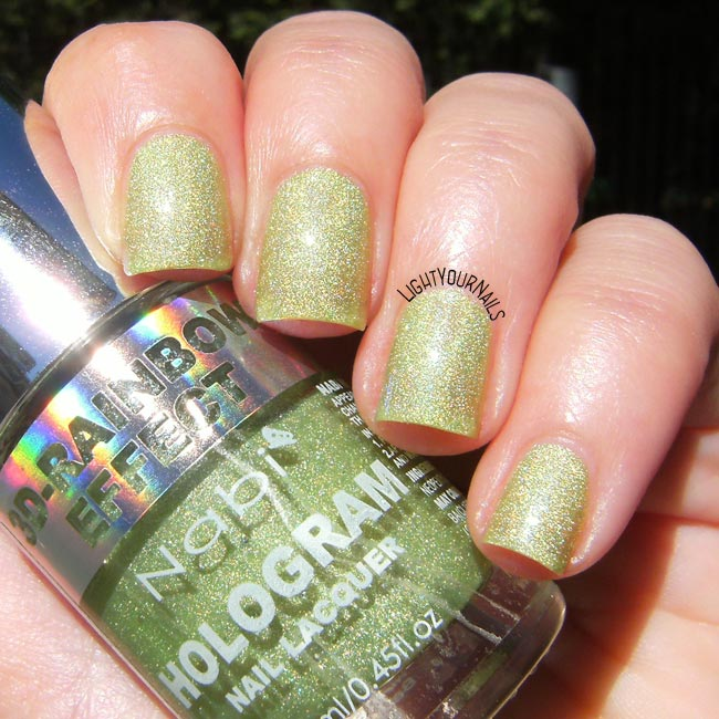 Smalto Nabi Hologram Green nail polish
