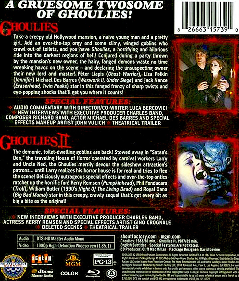 Blu-Ray And Dvd Covers Scream Factory Double Feature Blu -5505