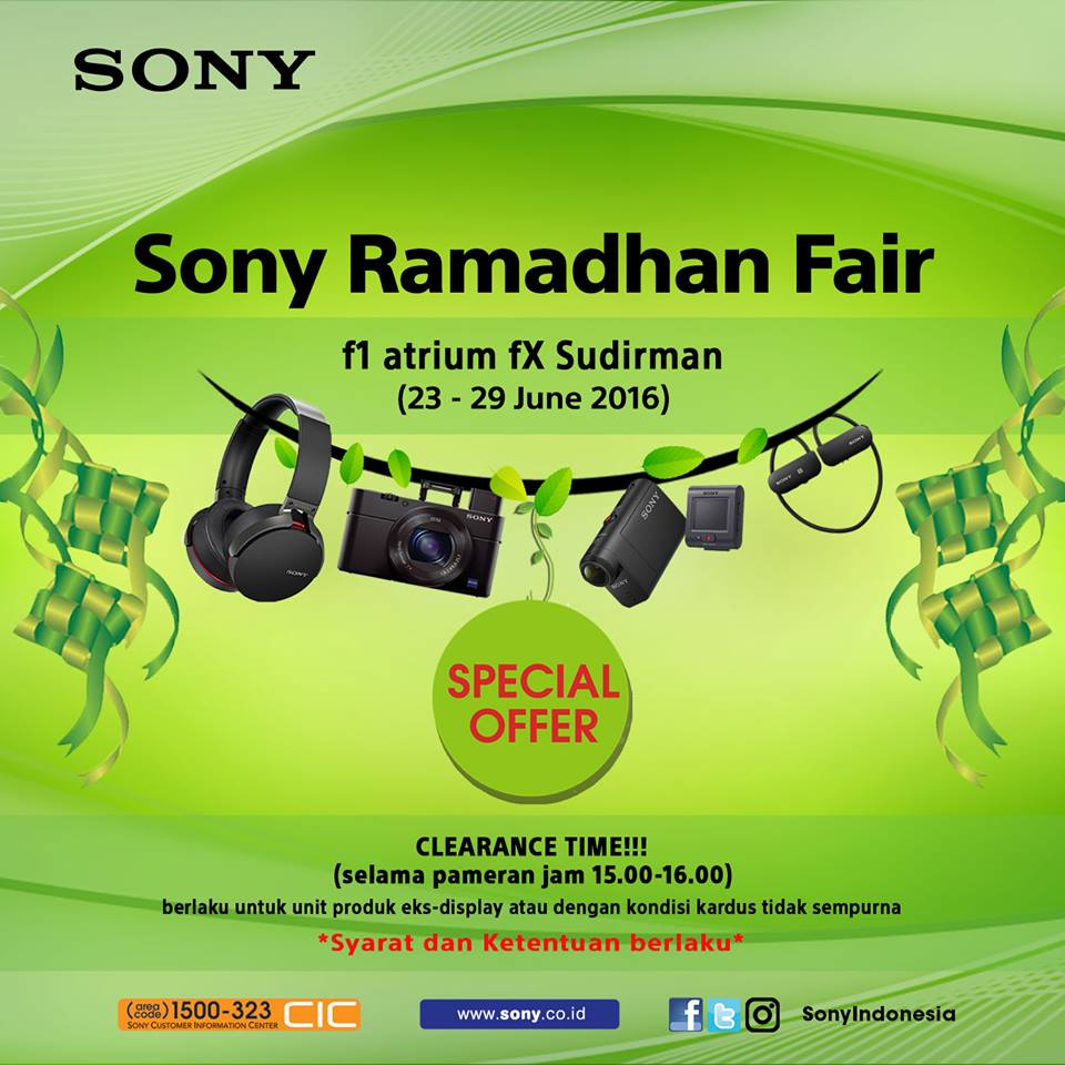 Batik Keris Fx Sudirman: SONY RAMADHAN FAIR Special Offer 2016