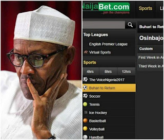 WTF! Naijabet Place Buhari's Return on Bet