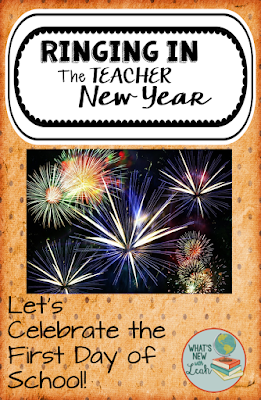 Summer is wonderful, but starting a new school year can be wonderful and exciting, too. I'm talking about ringing in the teacher new year in this blog post, so read along to find out how I go about ringing in the teacher new year.